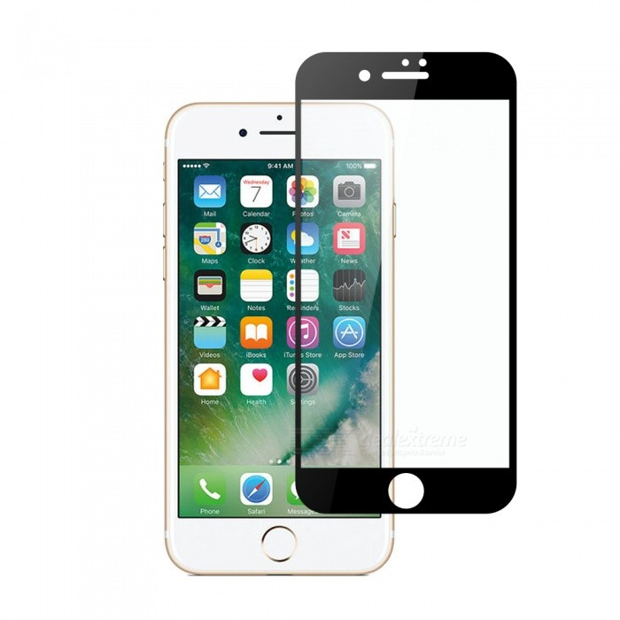 Dayspirit Tempered Glass Screen Protector for IPHONE 7 PLUS, IPHONE 8 PLUS - BlackScreen Protectors<br>ColorBlackModelN/AMaterialTempered glassQuantity1 setCompatible ModelsIPHONE 7 PLUS, IPHONE 8 PLUSFeaturesTempered glassPacking List1 x Tempered glass screen protector1 x Dust cleaning film 1 x Alcohol prep pad<br>