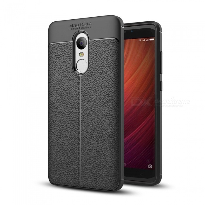 Dayspirit Lichee Pattern TPU Case for Xiaomi Redmi Note 4 - BlackTPU Cases<br>ColorBlackModelN/AMaterialTPUQuantity1 pieceShade Of ColorBlackCompatible ModelsRedmi Note 4Packing List1 x Case<br>