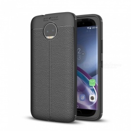 cover in TPU dayspirit lichee modello per moto g5s plus - nero