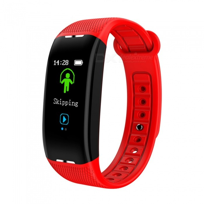 X1 Color Screen USB Charging Intelligent Bluetooth Bracelet with Heart Rate Blood Pressure Monitor, Exercise Sleep Monitor - RedSmart Bracelets<br>ColorRedModelX1Quantity1 pieceMaterialTPUWater-proofIP67Bluetooth VersionBluetooth V4.0Touch Screen TypeIPSOperating SystemAndroid 4.4,iOSCompatible OSAndroid  IOSBattery Capacity100 mAhBattery TypeLi-ion batteryStandby Time14 daysPacking List1 x User instruction1 x Host1 x Packaging<br>