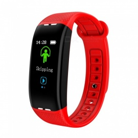 X1 Color Screen USB Charging Intelligent Bluetooth Bracelet with Heart Rate Blood Pressure Monitor, Exercise Sleep Monitor - Red