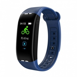 X1 Color Screen USB Charging Intelligent Bluetooth Bracelet with Heart Rate Blood Pressure Monitor, Exercise Sleep Monitor -Blue