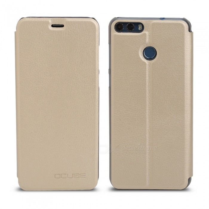 OCUBE Protective Flip-open PU Leather Case for Ulefone Mix 2 5.7 Inches - GoldenLeather Cases<br>ColorGoldenModelUlefone Mix 2MaterialPC + PUQuantity1 pieceShade Of ColorGoldCompatible ModelsUlefone Mix 2FeaturesAnti-slip,Dust-proof,Shock-proof,Abrasion resistancePacking List1 x Phone Case<br>