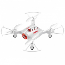 SYMA X21 RC Quacopter Helicopter Drone Aircraft Toy w/ Headless Mode, Hover, Fixed High Function for Boy Gift - White
