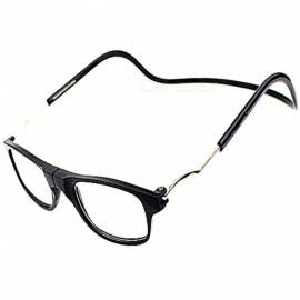 Portable Magnetic Hanging Neck Type Reading Glasses for Adults, Elderly, Parents - Black
