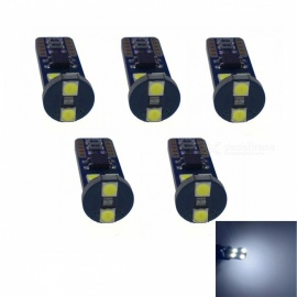 JRLED T10 2W Cold White Light 3030 6-SMD LED Car Indicator Lamps (5 PCS)