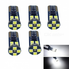 JRLED T10 4W Cold White Light 3030 12-SMD LED Car Indicator Lamps (5 PCS)