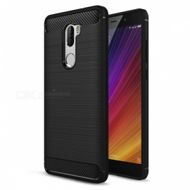 Dayspirit Wire Drawing Carbon Fiber TPU Back Case for Xiaomi 5S Plus - Black