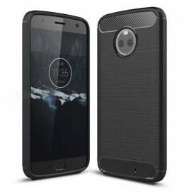 Dayspirit Wire Drawing Carbon Fiber TPU Back Case for Motorola Moto X4 - Black