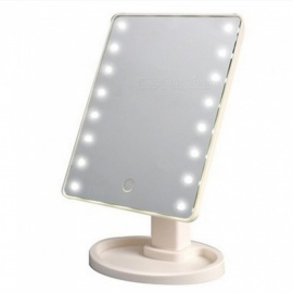 ZHAOYAO Smart Touch Screen 16-LED Makeup Mirror, Lighted Vanity Mirror with Adjustable Brightness for Bathroom Countertop