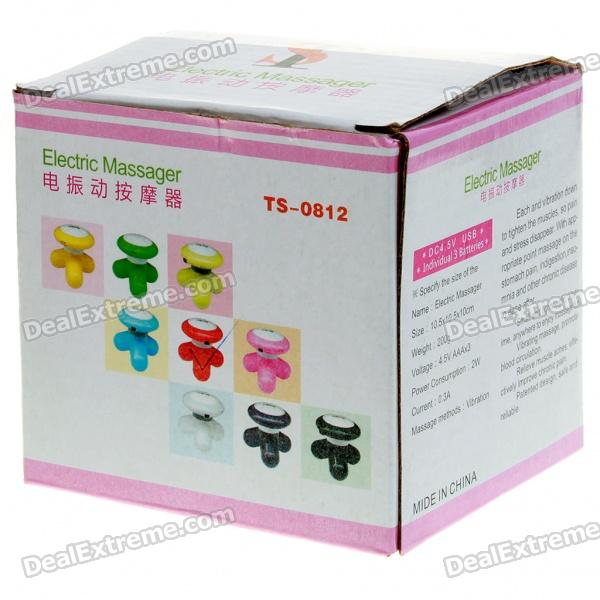 USB/3*AAA Powered Vibrating Massager (Color Assorted)