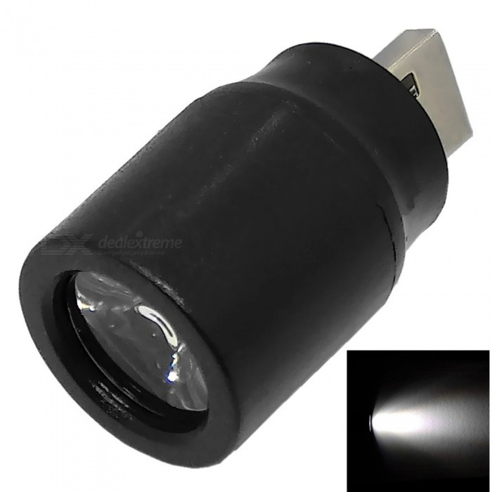 USB 5V 0.5A Mini LED Strong Light / Spotlight with Switch for Lighting / Outdoor / Travel - Black