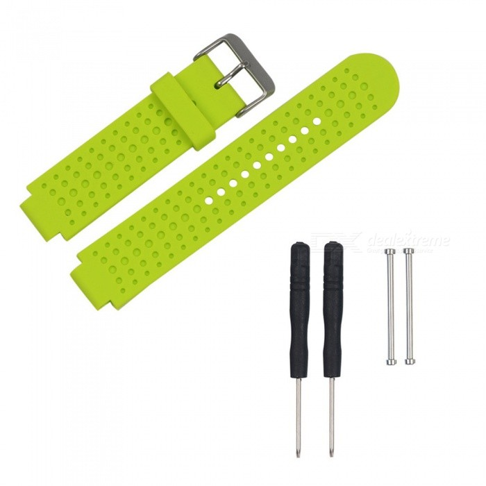 Replacement Smart Watch TPE Strap For Garmin Forerunner 230/235/630/735 - GreenWearable Device Accessories<br>ColorGreenModelN/AQuantity1 setMaterialTPEPacking List1 x Strap2 x Screws2 x Screwdrivers<br>
