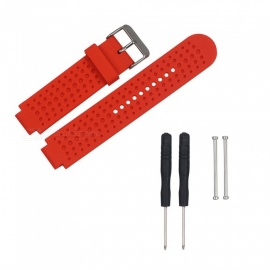 Replacement Smart Watch TPE Strap For Garmin Forerunner 230/235/630/735 - Red