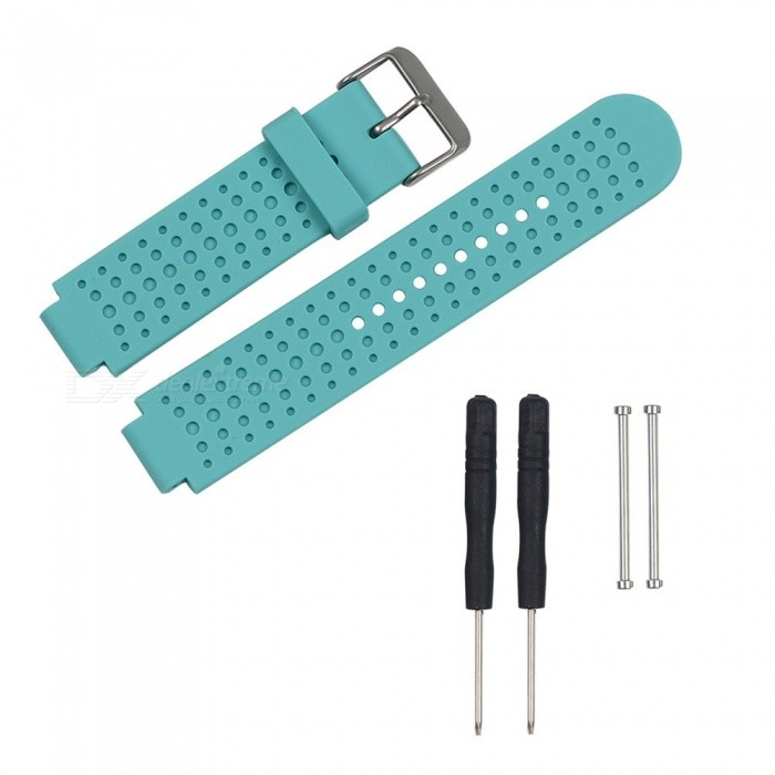 Replacement Smart Watch TPE Strap For Garmin Forerunner 230/235/630/735 - CyanWearable Device Accessories<br>ColorCyanModelN/AQuantity1 setMaterialTPEPacking List1 x Strap2 x Screws2 x Screwdrivers<br>