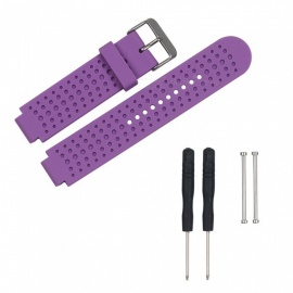 Replacement Smart Watch TPE Strap For Garmin Forerunner 230/235/630/735 - Purple