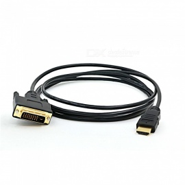 Dayspirit Gold Plated HDMI Male To DVI 24+1 Male Connection Cable - Black (1.5m)