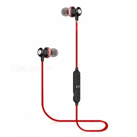 AWEI B980BL écouteurs intra-auriculaires sport bluetooth avec microphone - rouge