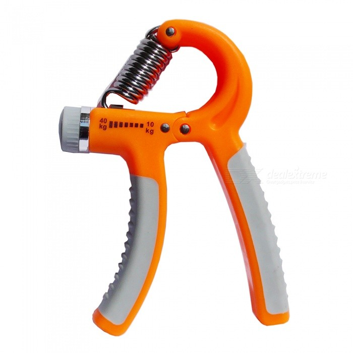 R Type Adjustable Finger Grip, Finger Muscle Force Trainer - OrangeColorOrangeQuantity1 pieceMaterialPlastic, steelTypeFitness equipmentNameFinger gripFeaturesUse spring strength to exercise your fingers.Size16*11*2cmBest UseFinger rehabilitation trainingPacking List1 x Finger grip<br>