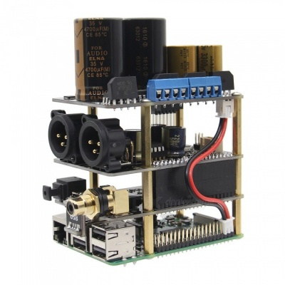 Geekworm Raspberry Pi X20-XLR HIFI Audio Kit (X20-XLR Board + X10-I2S Board + X10-PWR Power Supply Board)