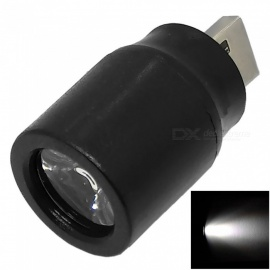 USB 5V 0.5A mini LED sterkt lys spotlight for belysning / utendørs / reise - svart