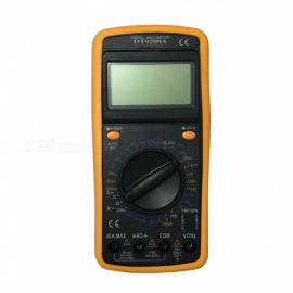DT9208A.1 LCD Handheld Digital Multimeter, Using for Home and Car - Black