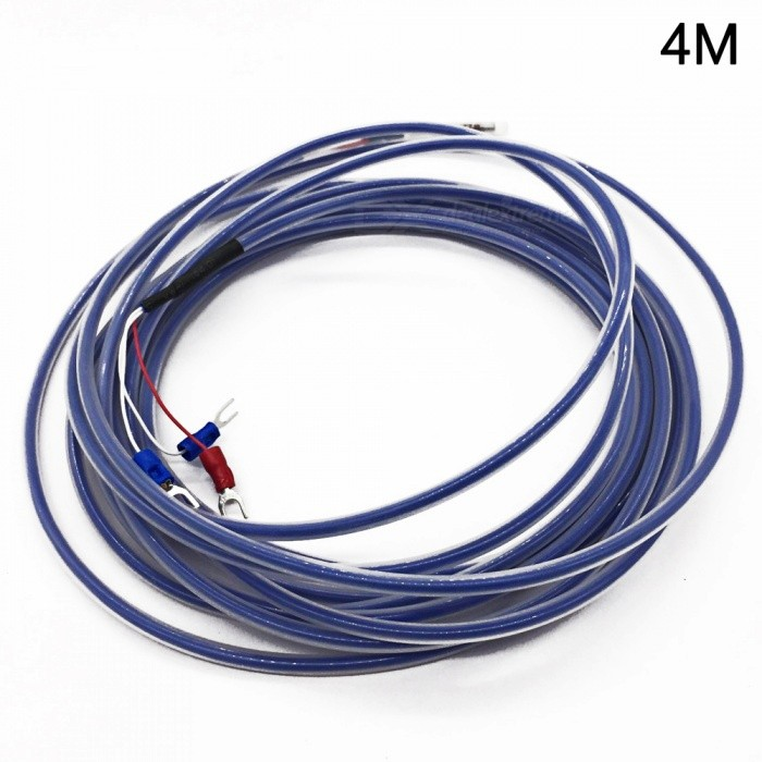 Type PT100 4M Teflon PTFE 0-500 Degree Thermocouple Temperature Sensor Cable - WhiteDIY Parts &amp; Components<br>ModelPT100 typeLength4MModelPT100   4MQuantity1 pieceMaterialPTFE(teflon)English Manual / SpecNoOther Features4MCertificationISO9001Packing List1 x Cable<br>