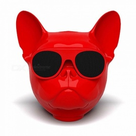 Creative Cool Skull Gog Head Style Bluetooth Stereo Speaker - Red (Size S)