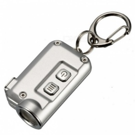 Nitecore TINI 380 Lumens Mini LED Flashlight Micro USB Rechargable Metal Keychain Torch - Silver