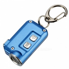 Nitecore TINI 380 Lumens Mini LED Flashlight Micro USB Rechargable Metal Keychain Torch - Blue