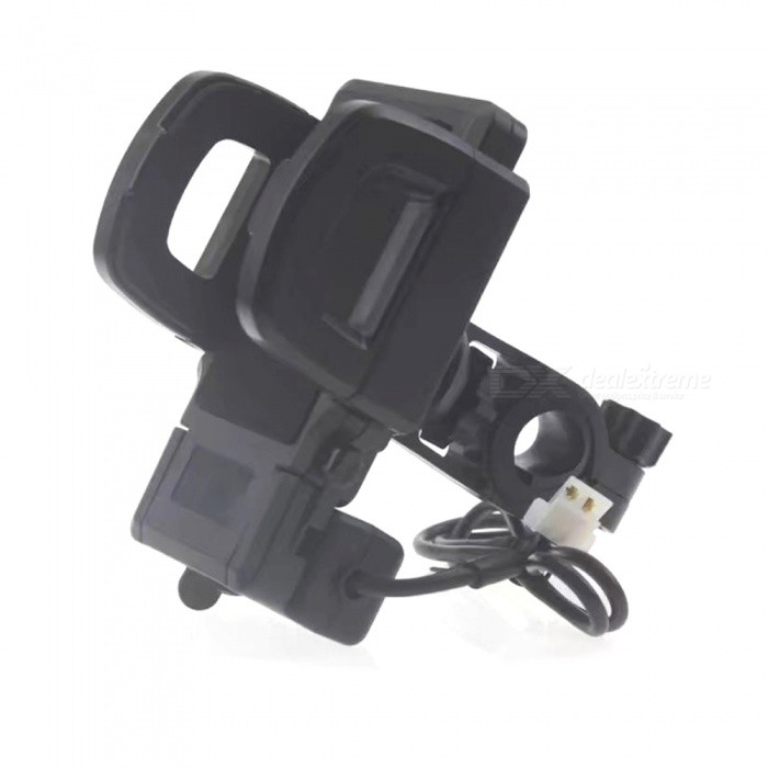 Universal Motorcycle Mobile Phone Charging Holder Stand for IPHONE X, 8, 7 Plus, Samsung S8, S9, S7Motorcycle Phone Holders<br>ColorblackModelNoQuantity1 pieceMaterialABSApplicable ProductsOthers,4-7INCHWaterproof FunctionYesPacking List1 x Rear-view mirror charging base bracket<br>