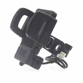 Universal Motorcycle Mobile Phone Charging Holder Stand for IPHONE X, 8, 7 Plus, Samsung S8, S9, S7