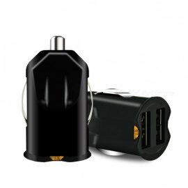 Mini Car Truck 2 Ports Dual USB Charger Adapter 12V Power 2.1A USB Car Charger for IPHONE, Xiaomi, Mobile Phones