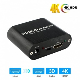 HDMI Audio Splitter HDMI TO HDMI ARC Audio Return HDMI Splitter Support 4K 60Hz - EU Plug