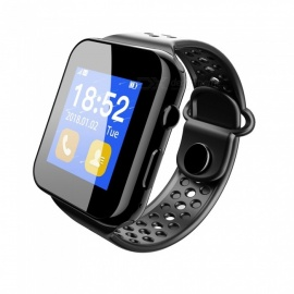 1.44 inch TFT Bluetooth V3.0 Smart Phone Watch with SIM Slot Pedometer Sleep Monitoring - Black