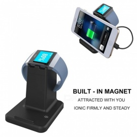 2 in 1 USB 2.0 caricatore per stazione di ricarica per caricabatterie dock station per braccialetto fitbit ionico smartwatch tablet phone holder