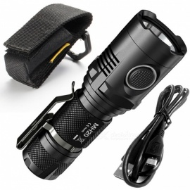 NITECORE MH20 MH20W 1000 Lumen XM-L2 U2 LED Rechargeable Flashlight - Black
