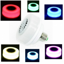 ZHAOYAO E27 7W AC100-240V Bluetooth Speaker Colorful Color Change LED Light Bulb