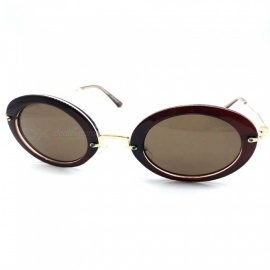 Vintage Retro UV400 Protection Sunglasses for Women - Brown