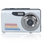 "5MP CMOS Compact Digital Video Camera w/ 8X Digital Zoom/SD Slot/TV Out - Silver (3.0"" LTPS LCD)"