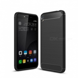Dayspirit Wire Drawing Carbon Fiber TPU Back Case for Asus Zenfone Live ZB501KL - Black
