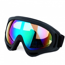Outdoor Sports Cycling Mountaining PC Frame Resin Lens Glasses Googles - Black