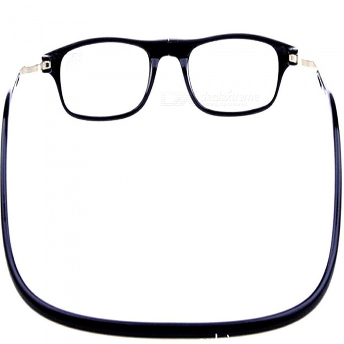 d7448e60b438 ... Magnetic Adsorption Neck Hanging 1.5 Diopter Reading Glasses Presbyopic  Glasses for the Elderly ...