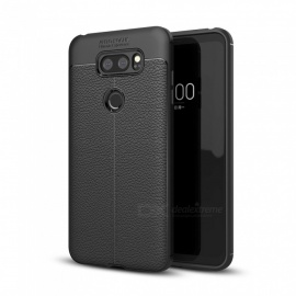Dayspirit Lichee Pattern Protective TPU Back Cover Case for LG V30 - Black