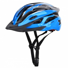 CTSmart Lightweight Outdoor Riding Cap, One-piece Safety Helmet - Black + Blue (One Size)