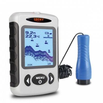 LUCKY FF718D-Ice 2.2 Inches LCD Portable Fish Finder - White