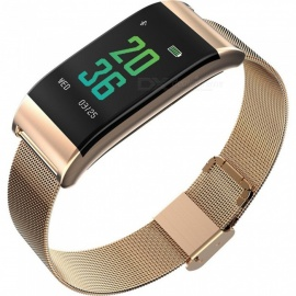 B23 Steel Band Color Screen Smart Bracelet Heart Rate/Blood Pressure/Blood Oxygen Monitoring/Multiple Movement Mode - Golden