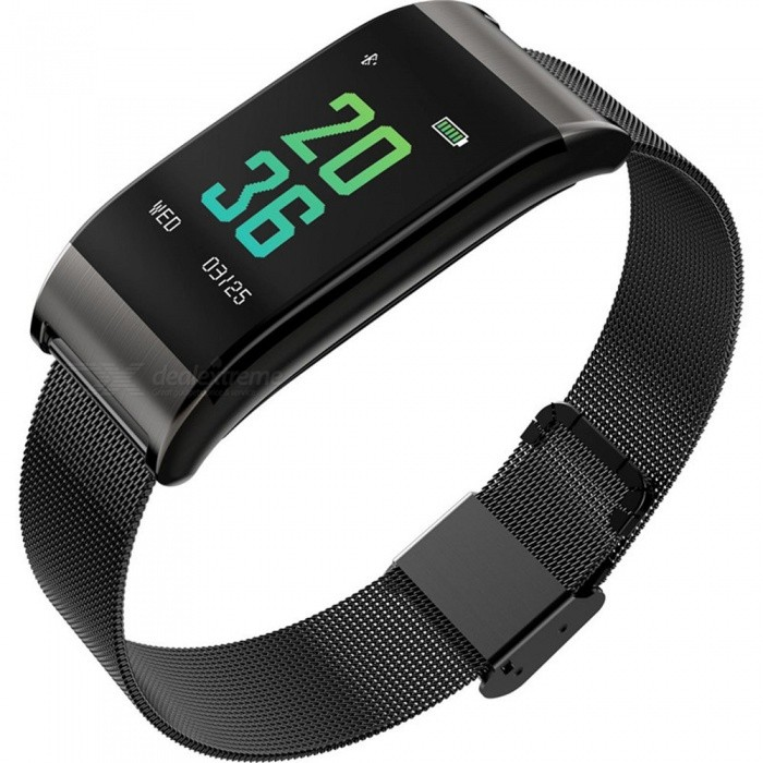 B23 Steel Band Color Screen Smart Bracelet Heart Rate/Blood Pressure/Blood Oxygen Monitoring/Multiple Movement Mode - BlackSmart Bracelets<br>ColorBlackModelB23Quantity1 piecesMaterialMetalWater-proofIP67Bluetooth VersionBluetooth V4.0Touch Screen TypeIPSOperating SystemAndroid 4.4Compatible OSAndroid IOSBattery Capacity90 mAhBattery TypeLi-ion batteryStandby Time20 daysPacking List1 x Smart Bracelet1 x Power Cable1 x User Manual<br>