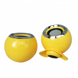 Portable Mini Speaker, 3.5mm USB Computer Loudspeaker Music Player - Yellow