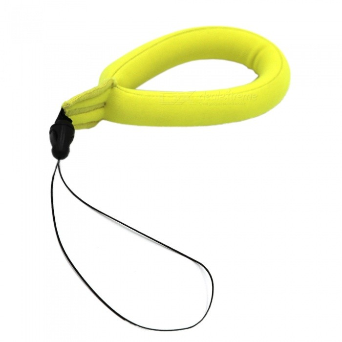 Ismartdigi i208-1 Buoyancy Wristband Neck Loop Rope for Gopro Hero 2 3 3+ 4 Session 5 6 SJ4000 - YellowOther GoPro Accessories<br>ColorYellowModeli208-1Quantity1 setMaterialWoolen ClothShade Of ColorYellowPacking List1 x Wristband<br>